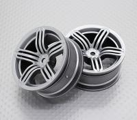 Escala 1:10 alta calidad Touring / deriva de las ruedas del coche RC de 12 mm Hex (2 piezas) CR-RS6S