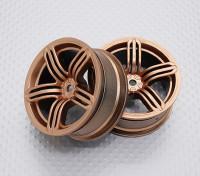 Escala 1:10 alta calidad Touring / deriva de las ruedas del coche RC de 12 mm Hex (2 piezas) CR-RS6G