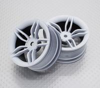 Escala 1:10 alta calidad Touring / deriva de las ruedas del coche RC de 12 mm Hex (2 piezas) CR-APT