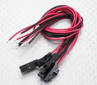 2 pin conector Molex macho con 20 cm de color rojo / negro con alambre de 26 AWG PVC (5pcs)