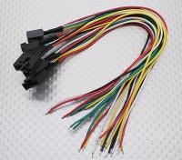 Molex 5 Pin Cable conector hembra con 230 mm x 26 AWG alambre (5 piezas)