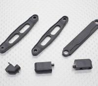 Montaje servo, Antena soporte y la placa de la batería - 1/10 Hobbyking Misión-D 4WD GTR Drift Car