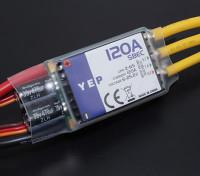 Controlador Hobbyking YEP 120A LV (2-6S) sin escobillas de velocidad seleccionable con SBEC