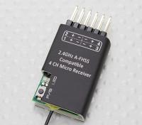 2.4Ghz A-FHSS Compatible micro receptor de 4 canales (Hitec compatible Mínimos)