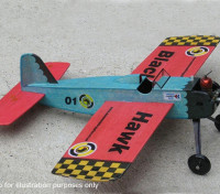 Modelos Negro Hawk Stunt Trainer control de línea Balsa 457mm (Kit)