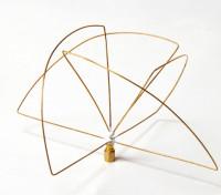 900Mhz circular polarizado antena receptora (SMA) (LHCP) (corto)