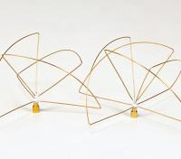 900Mhz circular antena polarizada Conjunto (RP-SMA) (LHCP) (corto)