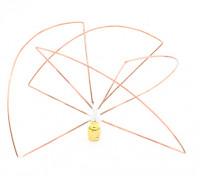 Circular polarizada 1.2ghz receptor de antena (RP-SMA) (LHCP) (corto)