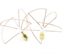 2,4 GHz circular polarizado antena SMA (Set) (corto)