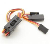Del cableado del interruptor de Futaba / JR con la carga de plomo