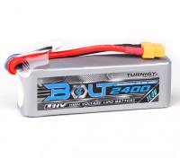 Perno Turnigy 2400mAh 3S 11.4V 65 ~ 130C Lipo Pack de alto voltaje