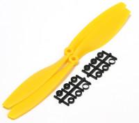 Turnigy Slowfly hélice 10x4.5 amarillo (CCW) (2pcs)