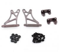 1/10 Alum. Estructura de Soporte ajustable Ala - Alta (titanio)