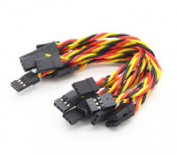 Twisted 10 cm macho a macho Servo plomo (JR) 22 AWG (10pcs / set)