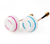5.8GHz Antena circular polarizado Set-transmisor y el receptor (RP-SMA)