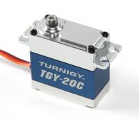 Turnigy ™ TGY-20C esfuerzo de torsión del DS / MG Servo w / carcasa de aleación de 40 kg / 0.18sec / 78g