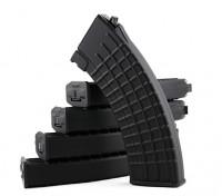 King Arms 600rounds revistas patrón de panal de Marui AK AEG (Negro, 5pcs / caja)
