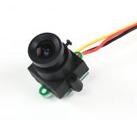 Mini cámara CMOS 520TVL FPV 120deg campo de visión 0.008lux 17x17x24mm (NTSC)