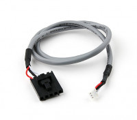 400mm 5 Pin Molex / JR a 3 plomo blindado Blanco Pin Conector