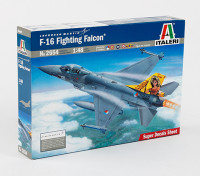 Italeri 1/48 Escala Fighting Falcon Kit de plástico Modelo F-16