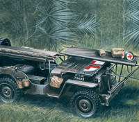 Italeri 1/35 Escala 4 x 4 ambulancia Kit Jeep Modelo Plástico