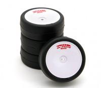 Ride Pre-encolada 1/10 Touring Car Neumáticos - Los neumáticos de alto agarre con cinturón Revolución RE25 w / tira de espuma (4pcs)