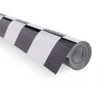 Recubrimiento de película Grill-Trabajo Negro / Blanco (5mtr) 402