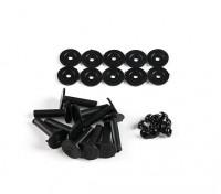 Los retenedores de plástico para la amortiguación de las vibraciones de las bolas (10pcs)