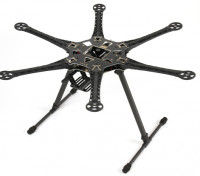 Juego de Estructura S550 Hexcopter Con 550mm PCB integrado (Negro)