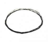 Turnigy alta calidad 36AWG teflón alambre cubierto 1m (Negro)