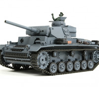 Panzer III Ausf.L (gris) del tanque RTR RC w / Airsoft y Tx (enchufe de la UE) (Almacén de la UE)