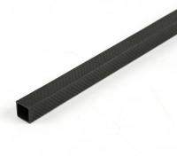 Tubo cuadrado de la fibra de carbono de 15 x 15 x 300 mm