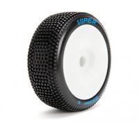 Louise B-VIPER escala 1/8 Buggy neumáticos de compuesto blando / del borde blanco / Montada