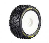Louise T-PIRATA 1/8 Neumáticos escala Truggy compuesto súper blando / 0 del desplazamiento / del borde blanco / Montada