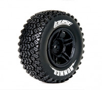 Neumáticos LOUISE SC-HUMMER 1/10 escala 4x4 Compuesto suave / Negro Borde / Mounted