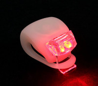 Blanco de silicio mini-lámpara (LED rojo)