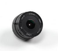 "2.8mm Junta lente F2.0 IR CCD de tamaño 1 / 2.5 ""156 ° de ángulo w / Mount"