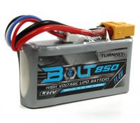 Turnigy Perno 850mAh 3S 11.4V 65 ~ 130C alto voltaje Lipo Pack (LiHV)