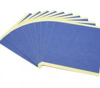 Turnigy Mini Fabrikator 3D v1.0 impresora de piezas de repuesto - Azul de papel de impresión de cama (10 piezas)