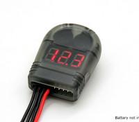 Alarma Turnigy Lipo batería probador de voltaje 2-8S y baja tensión del zumbador