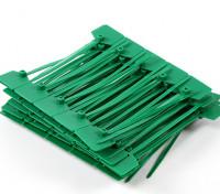 Sujetacables de 120 mm x 3 mm con marcador verde Tag (100pcs)