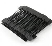 Sujetacables de 120 mm x 3 mm negro con marcador Tag (100pcs)