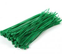Sujetacables de 200 mm x 4 mm Verde (100pcs)