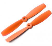 DYS Bull Nose plástico Propulsores T6045 (CW / CCW) (Naranja) (2 unidades)