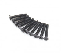 Plano del metal Machine Head Tornillo hexagonal M2.6x16-10pcs / set