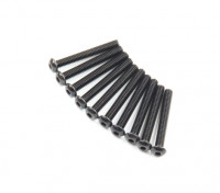 Ronda de metal Machine Head Tornillo hexagonal M2.6x20-10pcs / set