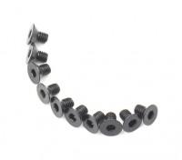Tornillo avellanado hexagonal M3x5mm Máquina Rosca de Acero Negro (10 piezas)