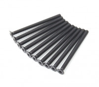 Plano del metal Machine Head Tornillo hexagonal M3x40-10pcs / set