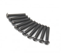Ronda de metal Machine Head Tornillo hexagonal M3x16-10pcs / set