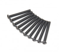 Ronda de metal Machine Head Tornillo hexagonal M3x24-10pcs / set